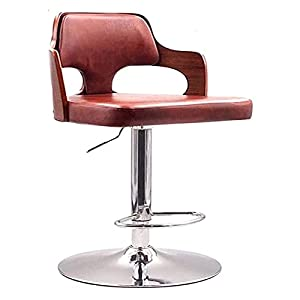 Dpliu Sgabelli da Bar Set di sedie a Barre Regolabili in Altezza 2/3/4 con Schienale Moderno PU. Sgabelli per sgabelli cromati in Pelle per sgabelli da Cucina Isola da Pranzo, 3 Colori, 60-80 cm