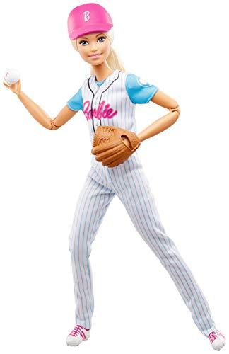 Barbie FRL98 - Baseball Spielerin Puppe, Spielzeug ab 3 Jahren