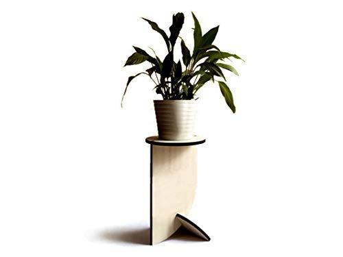Moderno piedistallo rotondo alto espositivo per piante di design in molti colori Supporto legno espositore vaso da fiori interni Tavolino salotto interno esposizione rampicanti