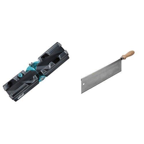 Wolfcraft Schmiege und Schneidlade, 1 Stück, 6948000 + Wolfcraft Handsäge, 1 Stück, 6950000