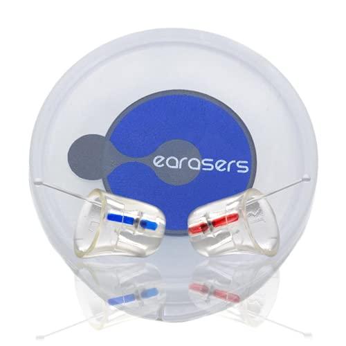 Earasers Tapones para los oídos de silicona para el dentista calma, cómodos, ligeros, para el oído, higienistas dentales, para el cuidado de la salud, tapones para ronquidos suaves (grande)