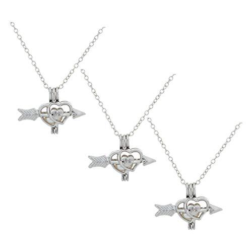 PRETYZOOM 3 Stück Herzförmige Halskette Leuchten Valentinstag Halskette Blinkende Liebe Herz Halskette Valentinstag...