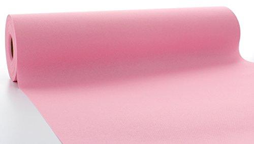 Sovie HORECA Linclass® Airlaid Tischläufer 40 cm x 24 m | Tischdecken-Rolle stoffähnlich | praktische Einmal-Tischdecke für Hochzeit oder Partys | Rosa