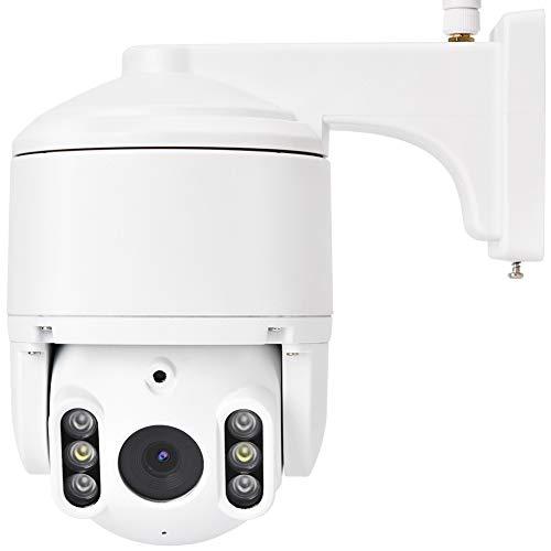 Cámara WiFi, cámara de seguridad para el hogar 1080P para bebé, anciano, mascota, cámara inalámbrica al aire libre con detección de movimiento, visión nocturna, color blanco (enchufe británico)