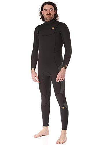 BILLABONG Mens Furnace Traje de Neopreno con Chest Zip Absolute 5/4mm - Negro Antiguo - Capas térmicas térmicas y cálidas Revestimiento del Furnace