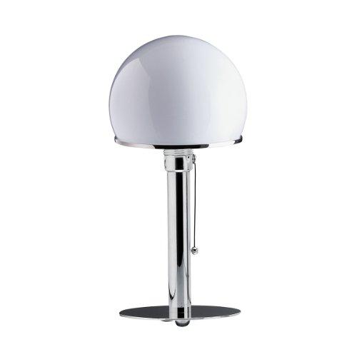 Preisvergleich Produktbild Tecnolumen Wagenfeld WA 24 Tischleuchte,  vernickelt Metall Metall Schirm weiß