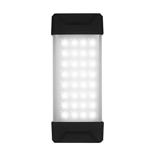 Linterna portátil LED para acampar al aire libre Linterna magnética de mano Luz de emergencia a prueba de agua Reflector con batería recargable de 5000mAh Brillo ajustable Luz fría cálida