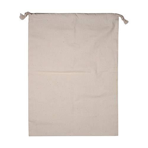 Hogar Liso de Gran Capacidad de algodón Natural con cordón de Almacenamiento Saco de lavandería Bolsa de Cosas con Cierre de cordón Bolsa de Ropa Sucia para Viajes Uso doméstico Beige(30 * 40cm)