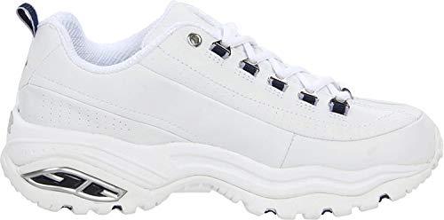 Skechers Premium - Scarpe da ginnastica da donna, Bianco (Bianco blu marino.), 41 EU