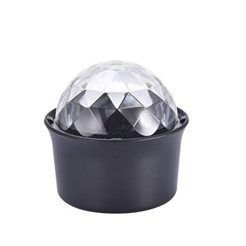 Teeyyui Mini lámpara de ambiente DJ, luz de discoteca, luz de carga USB, luz de decoración de escenario, ideal para decoración de coche, hogar, fiesta, color negro