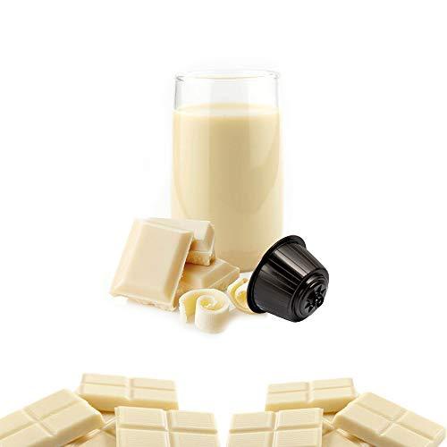 Kickkick Cioccolata Bianca Compatibili Nescafe Dolce Gusto in Cialde - 16 Capsule