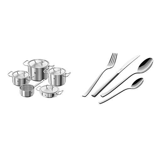 Zwilling Twin Classic - Batería de cocina, 5 piezas, Acero inoxidable +...