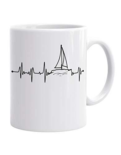 Jayess - segeln Kaffeebecher - Herzschlag Segler - EKG - Segelboot