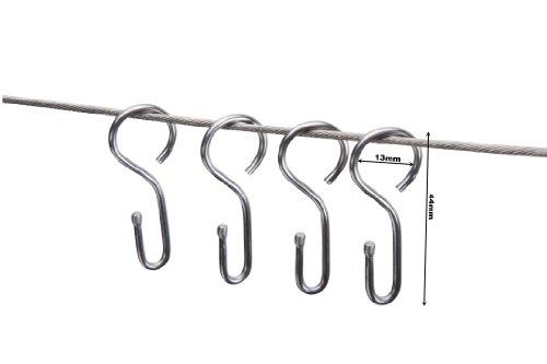 DécoProfi Haken für Seilspanngarnituren/Seilspannsysteme/Seilhaken Nirosta, Set 20 Stück
