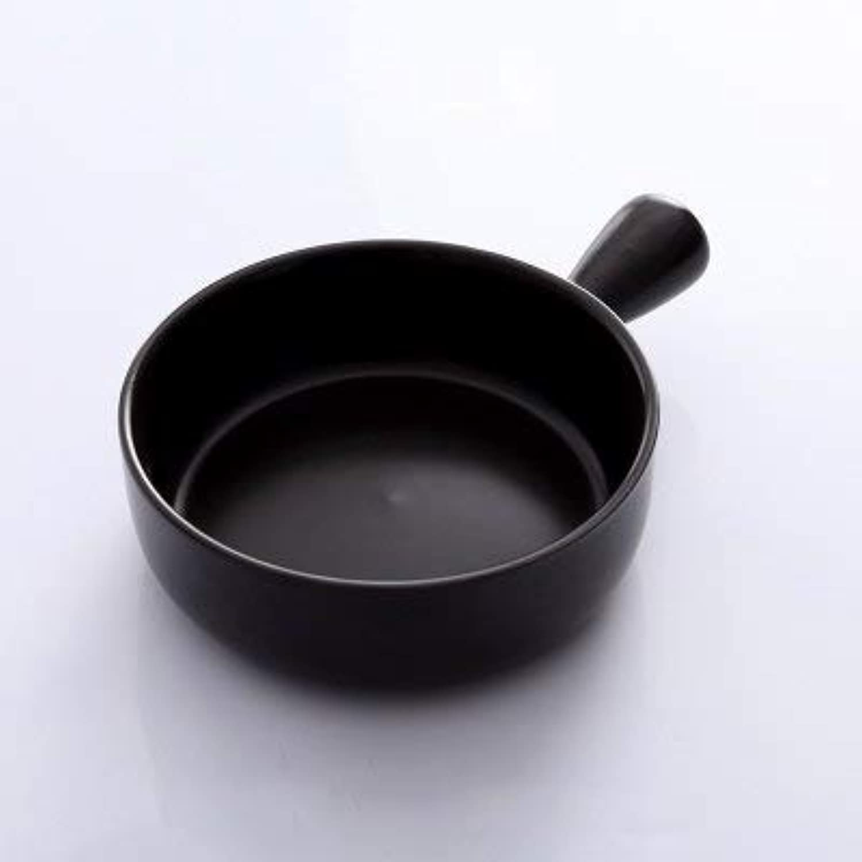 Single Handle Baking Oven Dish Salad Bowl Ceramic Breakfast Cheese Dish Fruit deep Dish   Black