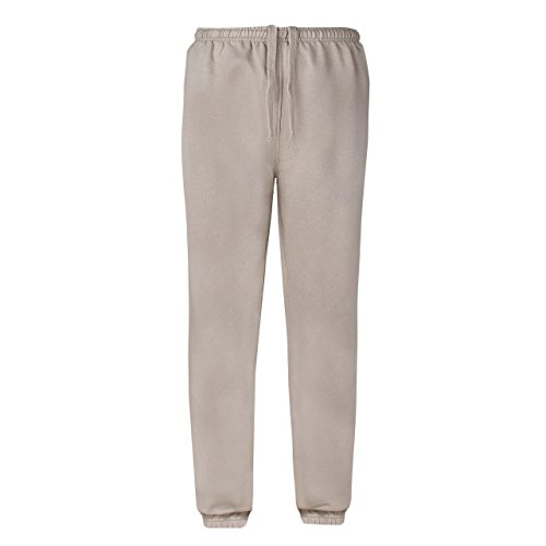 sumg Herren Jogginghose | Sweatpants | Sporthose mit Seitentaschen und elastischem Beinabschluss NEU (S, Sand/Beige)