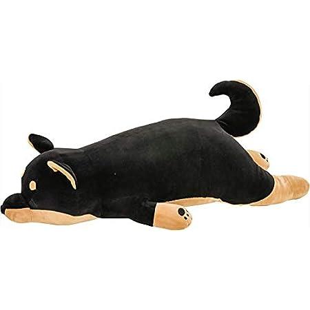 りぶはあと 抱き枕 プレミアムねむねむアニマルズ 黒柴のコテツ Lサイズ(全長約73cm) ふわふわ もちもち 48768-73 2セット