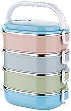 GPWDSN Roestvrijstalen lunchbox, slotcontainer en warmte/koud geïsoleerde zak, lekvrij, stapelbare bento lunchbox voor vol...