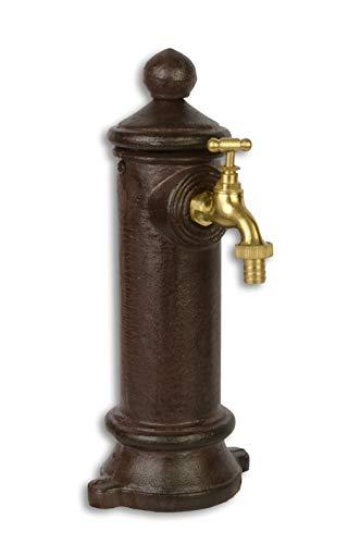 """Moritz - Fuente de jardín con toma de agua (1/2"""", con accesorios, 29,7 cm), color marrón"""