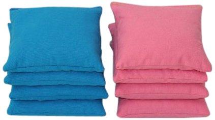 Free Donkey Sports Cornhole Bags (Pack of 8), Pink/Turquoise, Regular