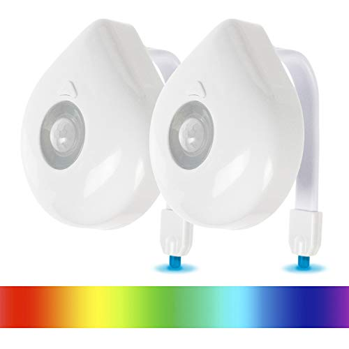 Vive Toilet Bowl Light - Night Motion Sensor Activated Device