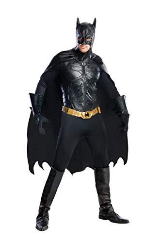 Rubie's Men's The Dark Knight Rises Deluxe Batman Costume, Black, Medium