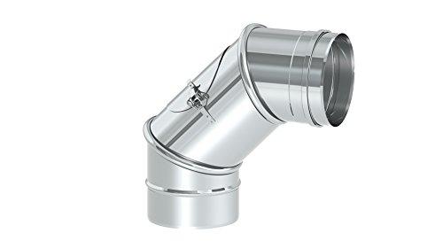 Schornstein - Reinigungswinkel drehbar 0-90° EW einwandig, Ø 150 mm; 0,6mm Wandstärke, Edelstahl