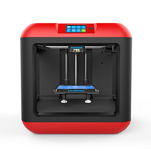 FLASHFORGE Finder 3D Printer Small Enclosed Safe FDM Touchscreen 3D Printer with Removable Build Plate,Cloud, Wi-Fi, USB Cable and Flash Drive Connectivity for Education and Beginner Use