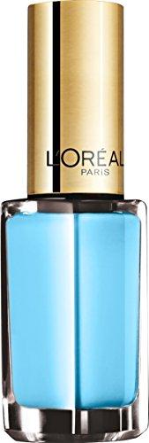 L'Oréal Paris Color Riche Le Vernis Nagellack in Himmelblau / Glänzender Farblack in sommerlichem Hellblau mit integriertem Überlack / 142 Riviera / 1 x 5ml