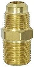 NIGO Brass Tube Fitting, Half-Union, Flare x NPT Male Pipe (1, 3/8