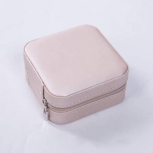 bnv Organizador portátil de joyería de viaje organizador de adornos de joyería, caja de almacenamiento para pendientes, collar, caja de almacenamiento para regalo de San Valentín