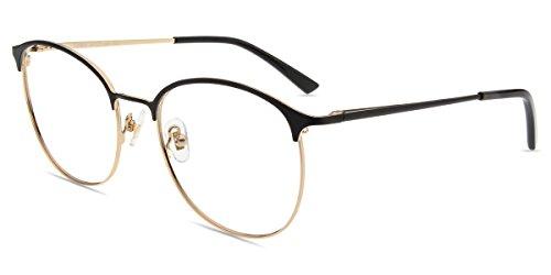 Firmoo Occhiali da Lettura 1.5 Uomo Donna, Occhiali Presbiopia Anti Luce Blu e 100% UV Protezione, Montatura Leggera, Occhiali da Vista Antiriflesso, Nero
