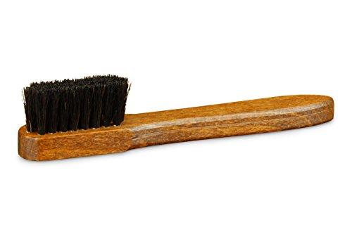 Langer & Messmer cepillo para zapatos hecho de crin 100% negro - el cepillo de zapatos para el cuidado del marco del zapato