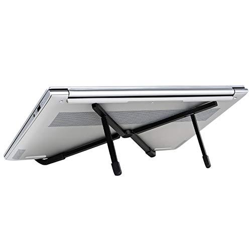 Inicio Soporte para Computadora Plegable Soporte para Computadora Portátil con Aleación De Aluminio Ligera Elevador De Refrigeración para Portátil Compatible con 11 '' -17 '', Robusto