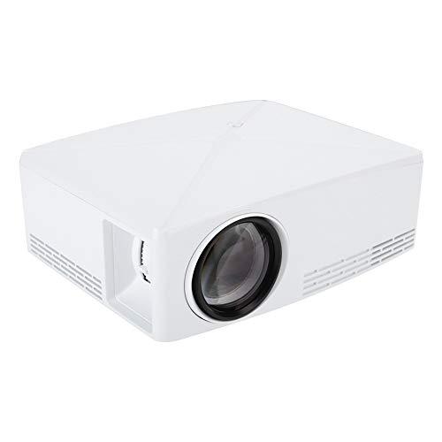 Goshyda Mini proyector, Reproductor Multimedia de Cine en casa HDMI USB 720P portátil, para Disfrutar de películas, Deportes y Juegos en una Pantalla más Grande, para Uso doméstico(Enchufe de la UE)