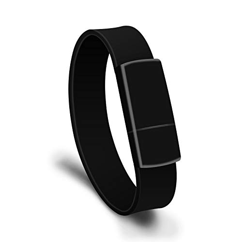 Wuqiang Cmf 8GB USB 2.0 di Modo del Braccialetto Wristband U Disk (Nero) (Color : Black)