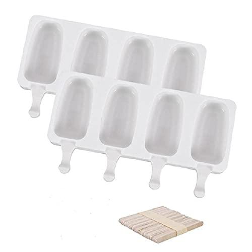 Moldes para helados con palillos para helados, reutilizables y congelados, modelo pequeño