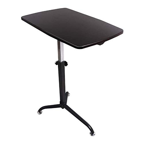HMBB Mesa plegable ergonómica para ordenador portátil, altura ajustable de 67 a 91,5 cm con ruedas móviles, sofá, mesa para el hogar, escritorio de cama simple