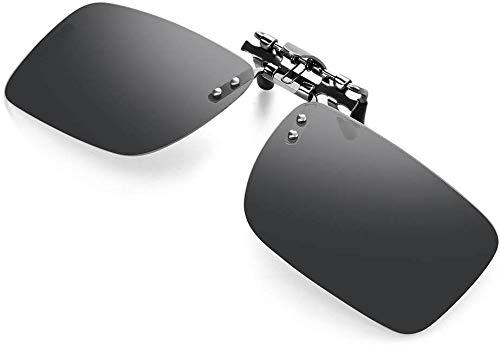Kimimara 偏光サングラス 変色調光レンズ クリップ式 近視眼鏡対応 メガネにつける クリップオン サングラス 超軽量 UV400 紫外線カット 釣り/サイクリング/スポーツ/テニス/自転車/登山/ゴルフ/野球 アウトドアグラス ケース付き 男女兼用