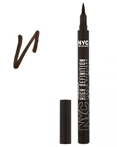 NYC High Definition Liquid Eyeliner 896 Deep Brown ~ Dark Brown Felt Tip Eye Liner Pen Sealed by NYC