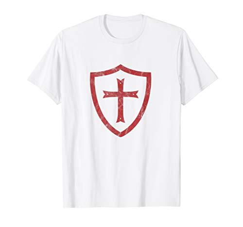 Knights Templar Cross and Shield Vintage Crusader History T-Shirt