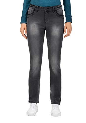 Timezone Damen Slim TahilaTZ Womanshape Straight Jeans, Schwarz (Faded Black wash 9062), W26/L30 (Herstellergröße:26/30)