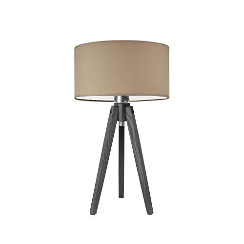 SABA - Lámpara de mesa (marco de madera de ceniza y cristal), color morado claro