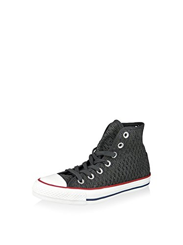 Converse Damen Chuck Taylor All Star Crochet Hightop Sneaker, grau, 39 EU