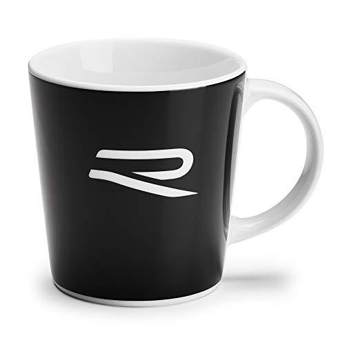 Volkswagen 5H6069601 Porzellantasse Becher R-Design Tasse Henkelbecher Kaffeetasse, schwarz