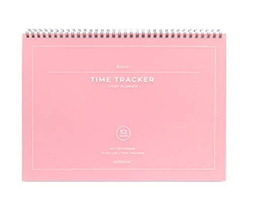Paperian Believe Time Tracker – A4-Größe, Spiralbindung, undatiert, Lernplaner/To-Do-Liste/Terminplaner rose