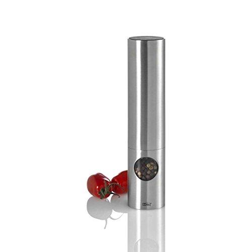 AdHoc Elektrische peper- of zoutmolen ovaal, Ceramic maalwerk Ceracut®, ledlicht, roestvrij staal/polyacryl/siliconen, D: 4,5 cm, H: [W]