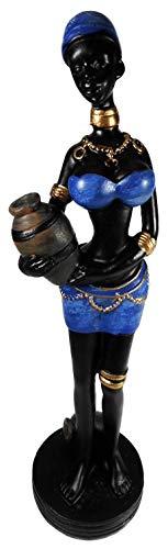 Massai Frau 20 x 6 cm Afrika Style Kunst Figur Skulptur Deko GKR 40420 MA