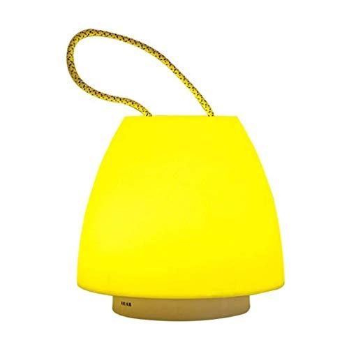 FFLJT Portátil de luz de la noche de House Party Decor, anillo de la manija atmósfera simple de la lámpara de mesa al aire libre