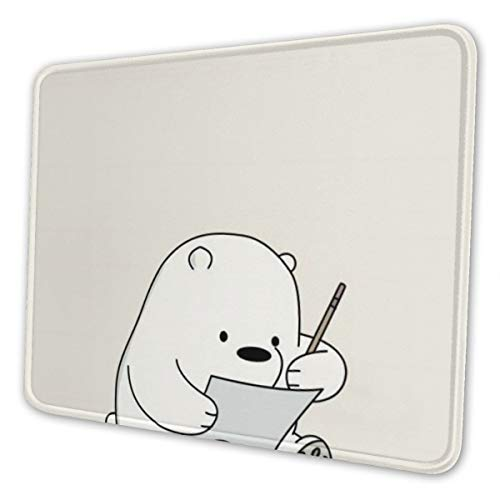 Didrika We Bare Bears Mouse Pad with Stitched Edge, Premium-Textured Mouse Mat, Non-Slip Rubber Base Mousepad for Laptop, Computer & Pc,7.9 X 9.5 in